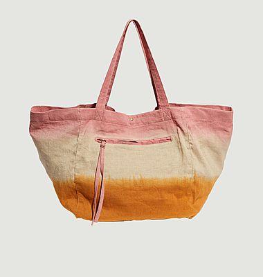 Grand sac cabas tie and dye en coton Aya Rainbow