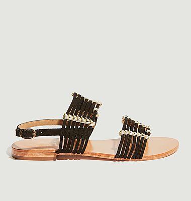 Sandales plates en cuir Thiago
