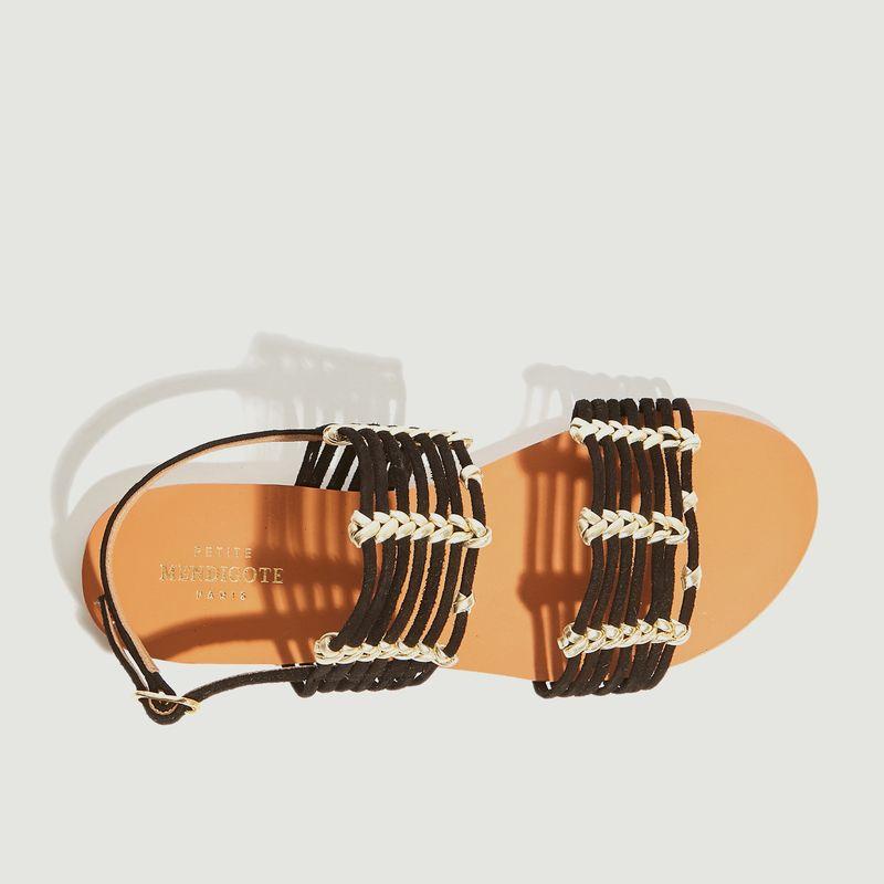 Sandales plates en cuir Thiago - Petite Mendigote
