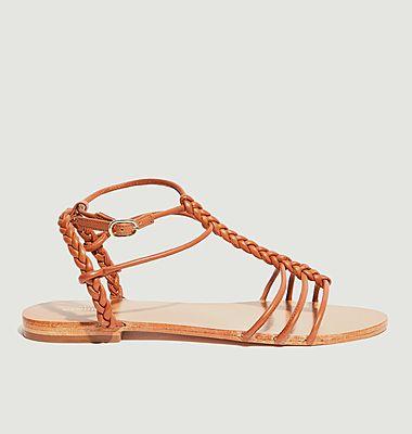 Sandales plates en cuir Calebe