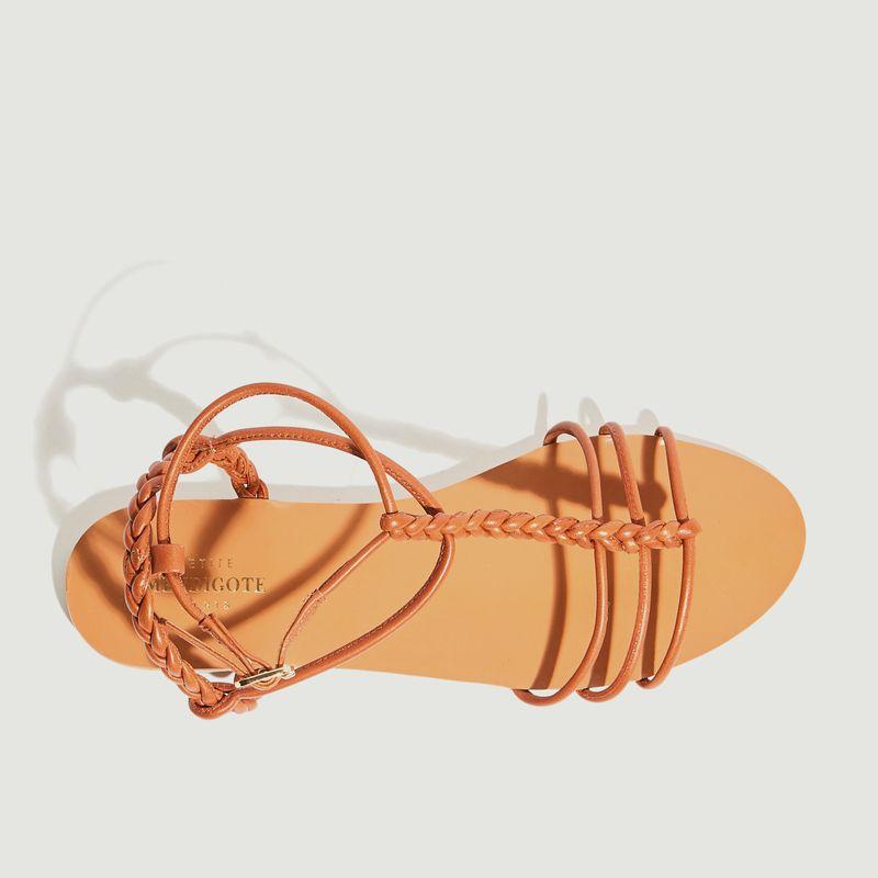 Sandales plates en cuir Calebe - Petite Mendigote
