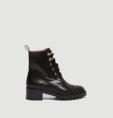 Boots en cuir à lacets Tino