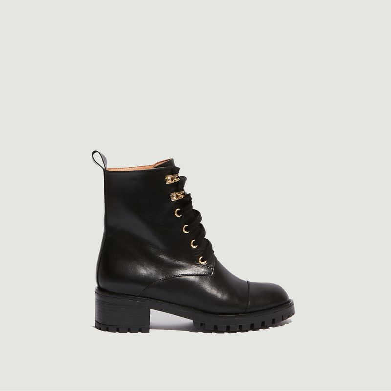 Boots en cuir à lacets Tino - Petite Mendigote