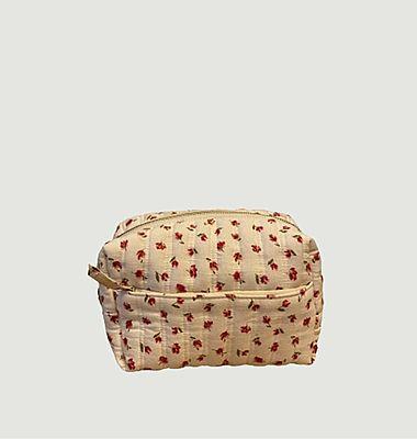 Matsya floral print cotton toiletry bag