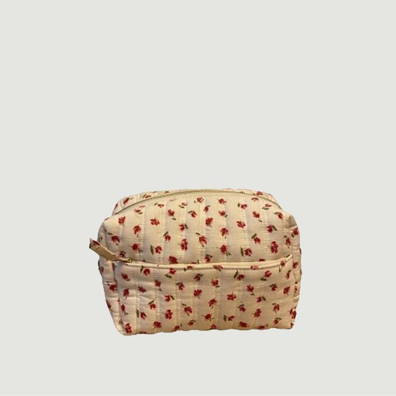 Trousse de toilette en coton imprimé fleuri Matsya - Petite Mendigote