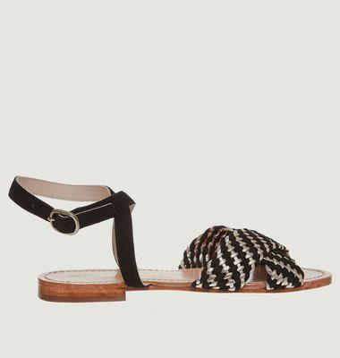 Sandales En Cuir Suédé Moreau