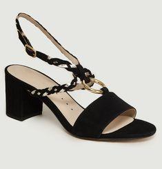 Sandales En Cuir Avec Anneau Hepburn