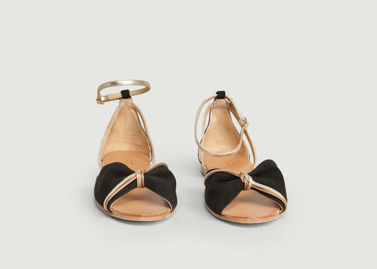 Sandales En Cuir Suédé Et Métallisé Adamo - Petite Mendigote