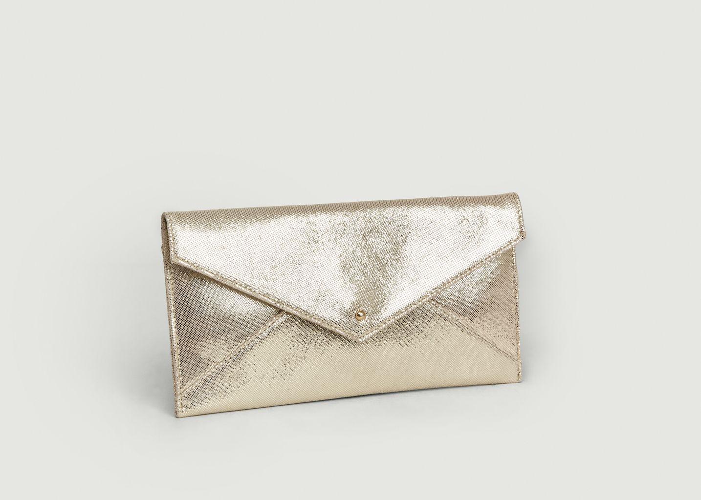 Sac pochette en cuir métallisé Cassandra - Petite Mendigote