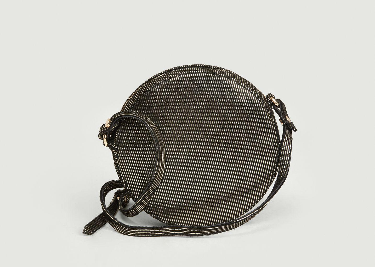 Petit sac rond en cuir métallisé Ringo - Petite Mendigote