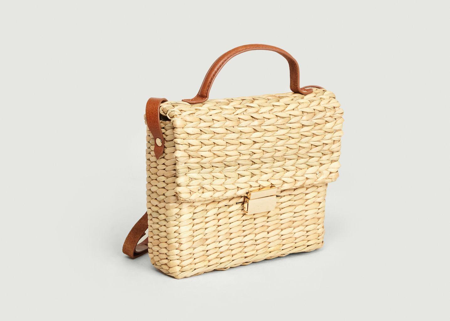 Petit sac besace paille et cuir Bardot - Petite Mendigote