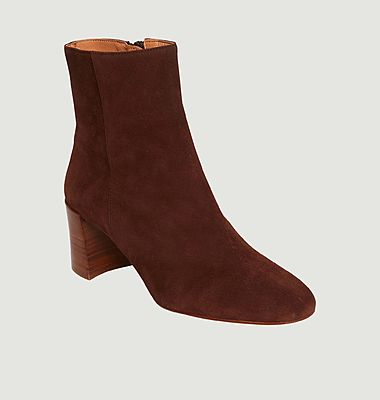 Bottines en cuir suédé Claudette
