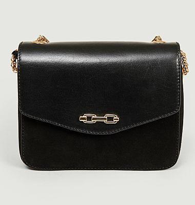Bodiam bi-material leather bag