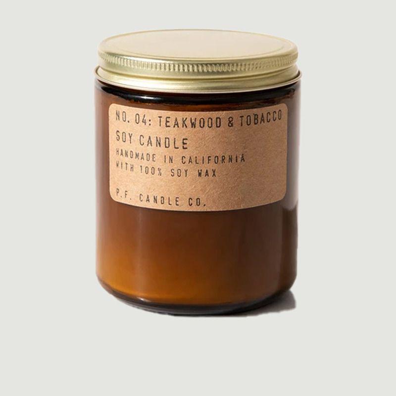 Bougie n°4 bois de teck et tabac - P.F. Candle CO.