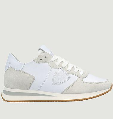 Sneakers en cuir de veau bi-matière TRPX