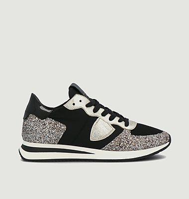 Sneakers tissu, cuir et paillettes TRPX Basic