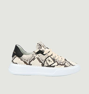 Sneakers en cuir Temple Python