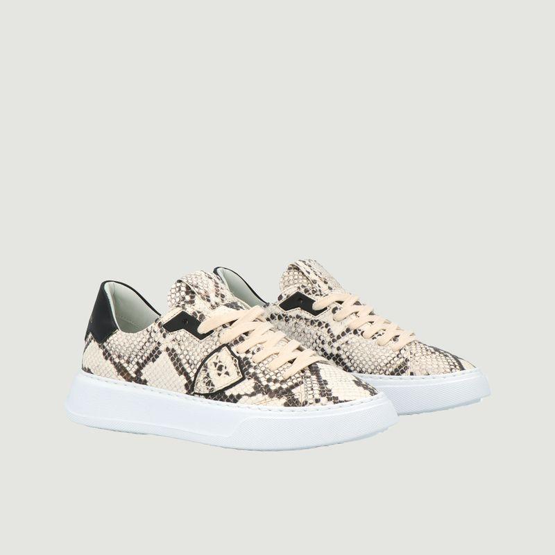 Sneakers en cuir Temple Python - Philippe Model