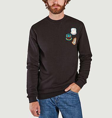 Sweatshirt Badges Mauro Gatti Crew
