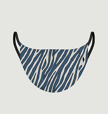 Masque en tissu motif zèbre