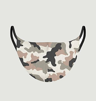 Fabric mask camouflage pattern