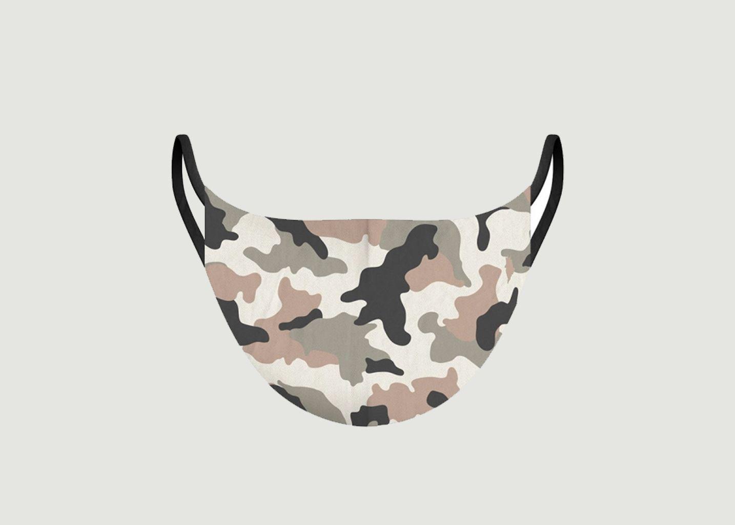 Masque en tissu motif camouflage - Pôdevache