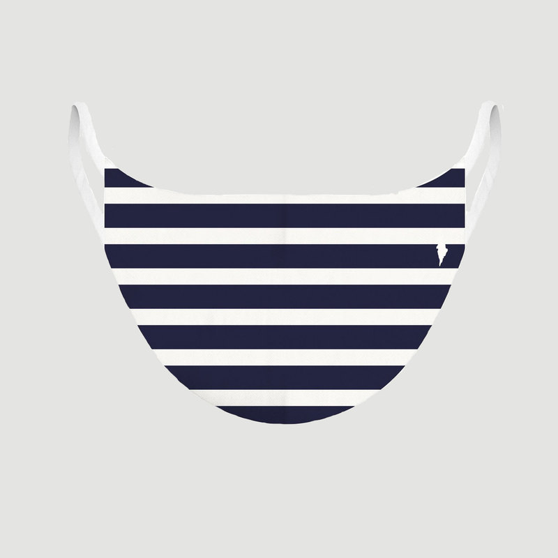 Masque en tissu Strip Tease Marinière - Pôdevache