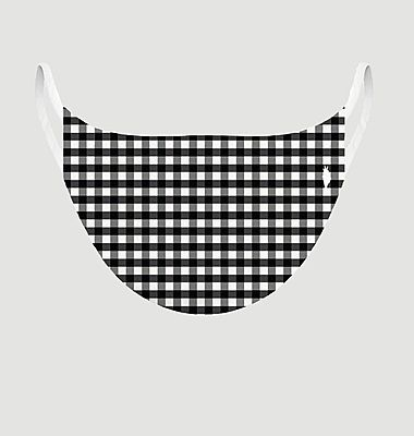 Masque en tissu motif vichy