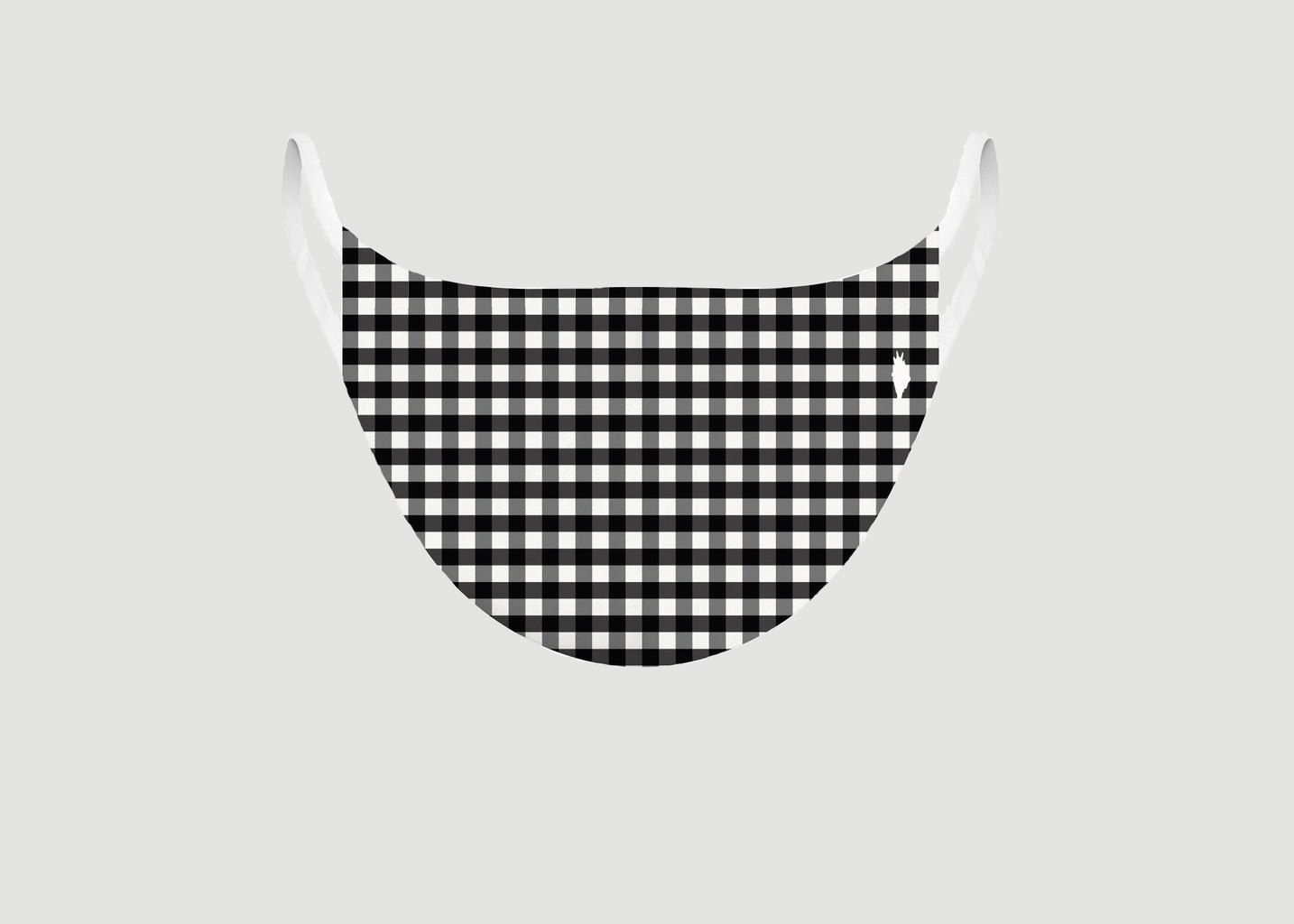 Masque en tissu motif vichy - Pôdevache