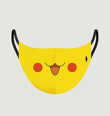 Fabric child mask Pikachu pattern