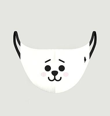 Masque enfant en tissu motif panda