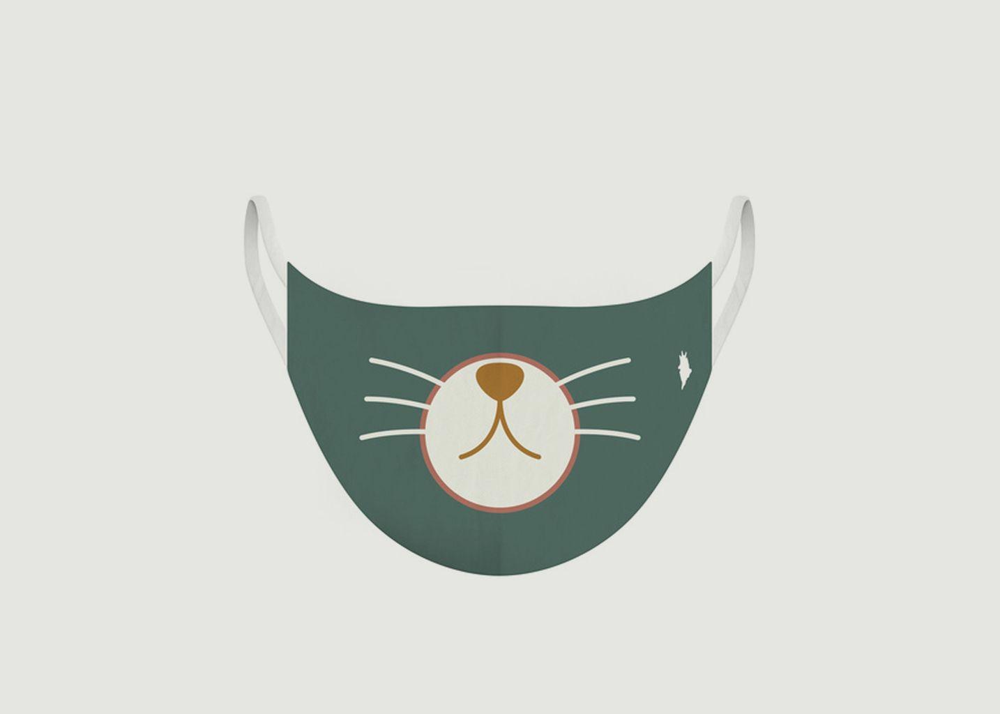 Masque enfant en tissu motif chat - Pôdevache