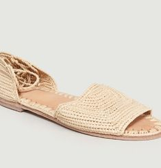 Sandales S19-02 en Raphia Open Toe