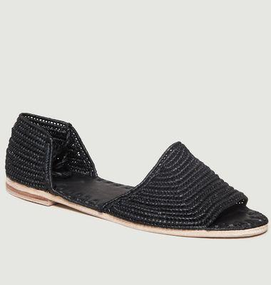 Sandales S19-02 en Raphia