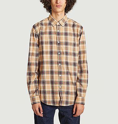 Chemise en flanelle à carreaux Camel