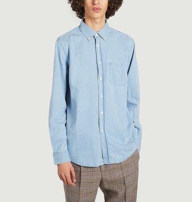 Chemise droite en jean