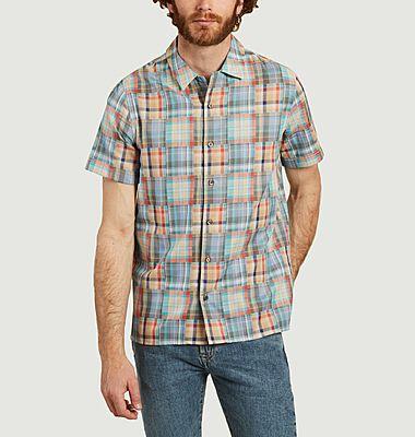 Chemise à carreaux multicolores