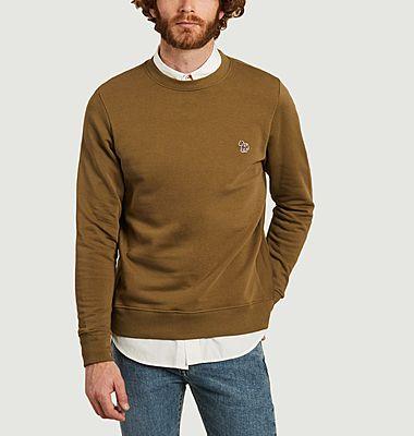Sweatshirt zèbre en coton biologique