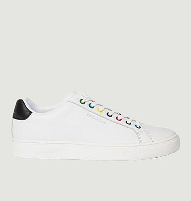 Sneakers en cuir avec œillets multicolores Rex