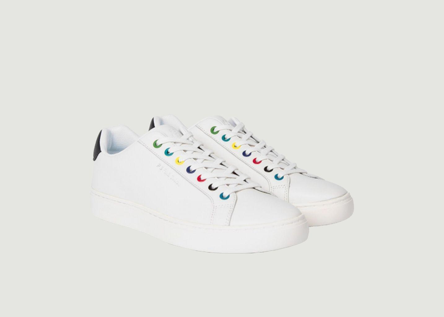 Sneakers en cuir avec œillets multicolores Rex - PS by PAUL SMITH