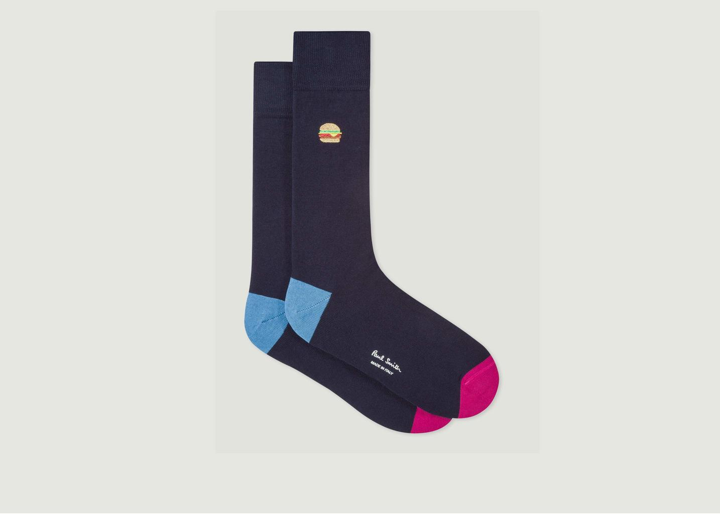 Chaussettes Brodées Burger - PS by PAUL SMITH