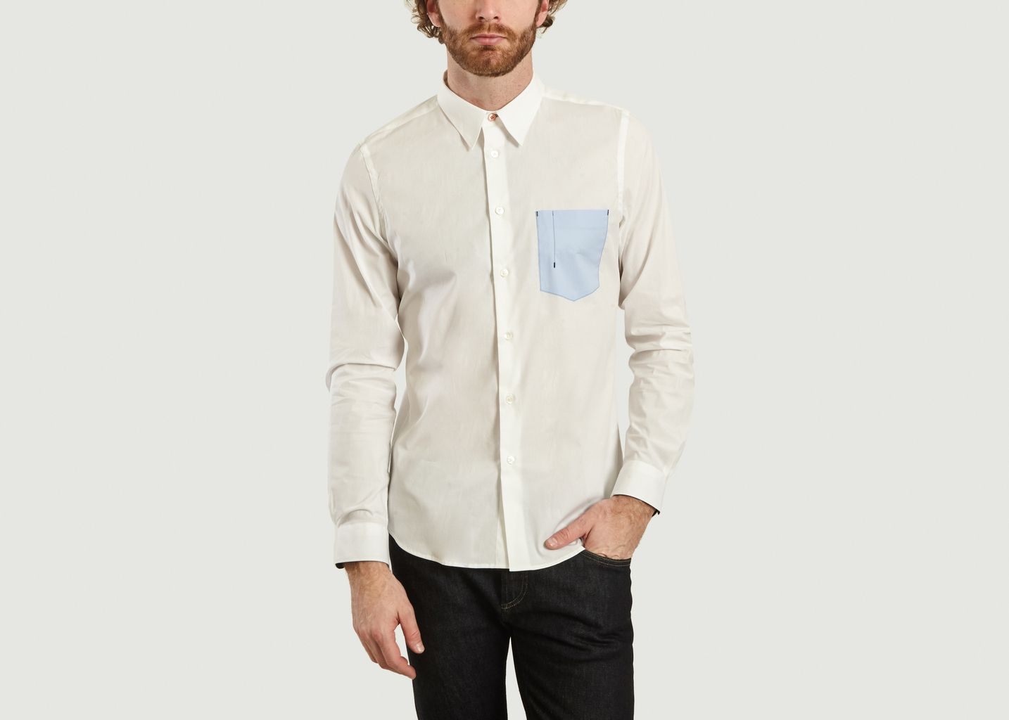 Chemise Tailored Fit A Poche Contrastée - PS by PAUL SMITH