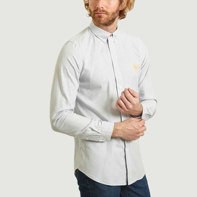 Chemise Rayée Tailored Fit Avec Zèbre - PS by PAUL SMITH