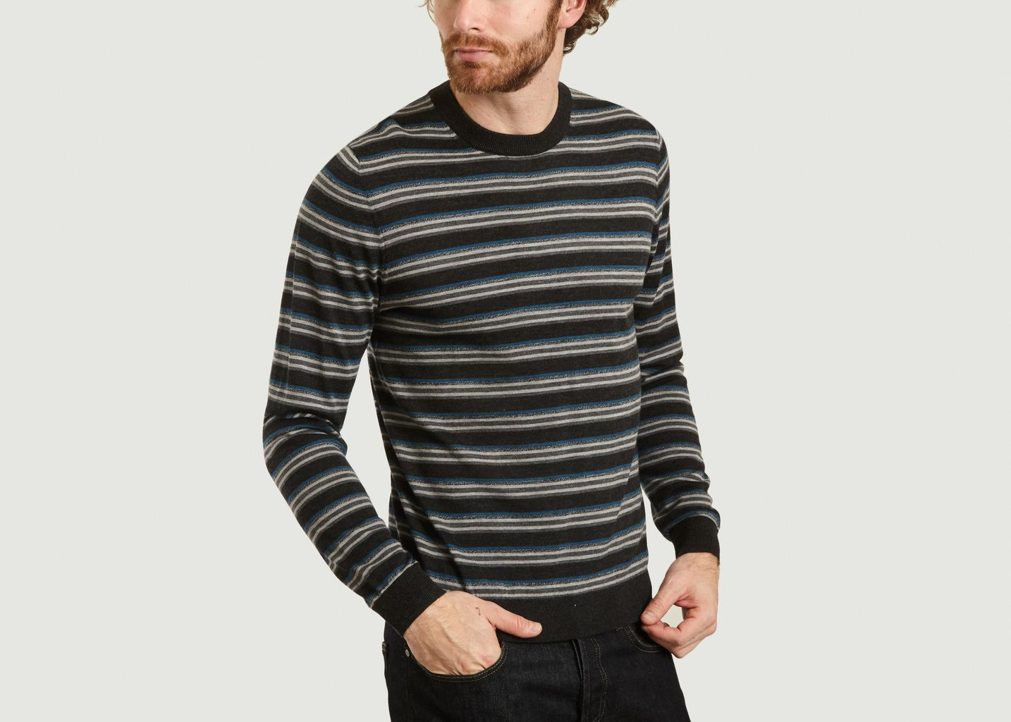 Pull Rayé En Laine Mérinos - PS by PAUL SMITH