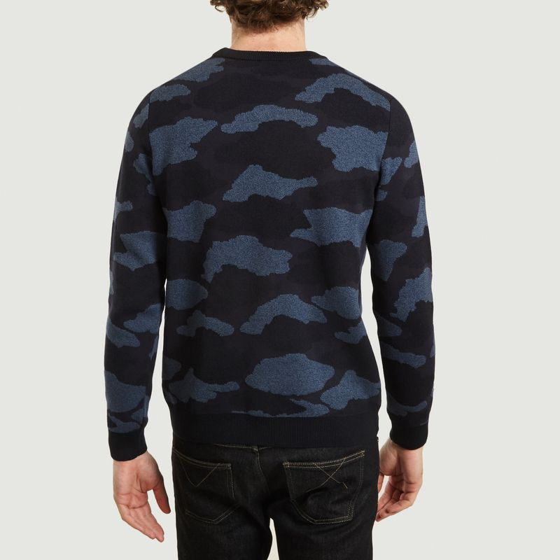 Pull Coton Et Nylon Motif Nuages - PS by PAUL SMITH