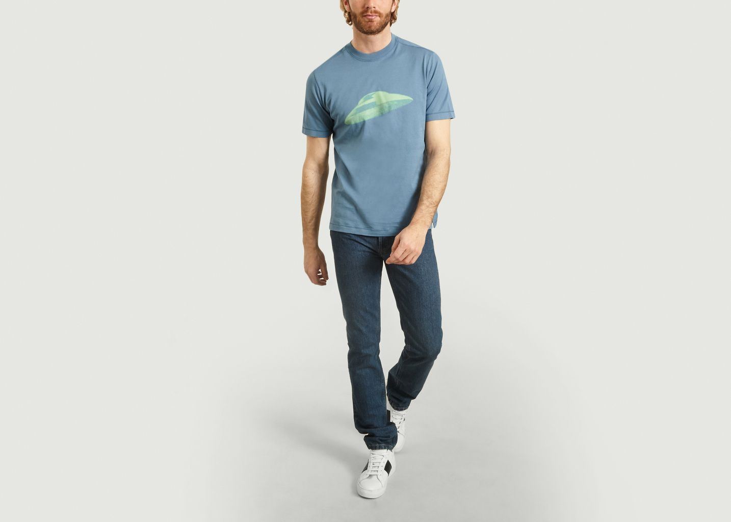 T-Shirt En Coton Imprimé Soucoupe Volante - PS by PAUL SMITH
