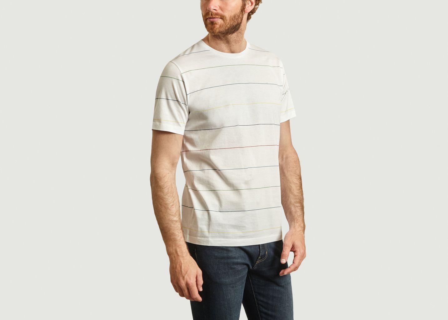 T-shirt rayé en coton - PS by PAUL SMITH