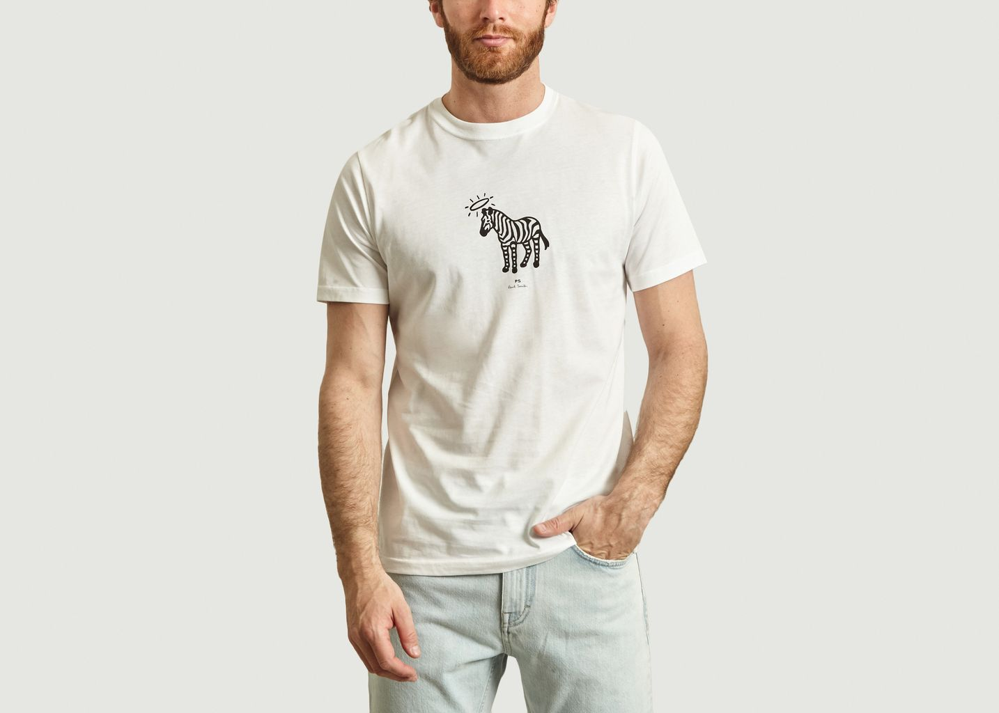 T-Shirt En Coton Imprimé Zèbre Halo - PS by PAUL SMITH