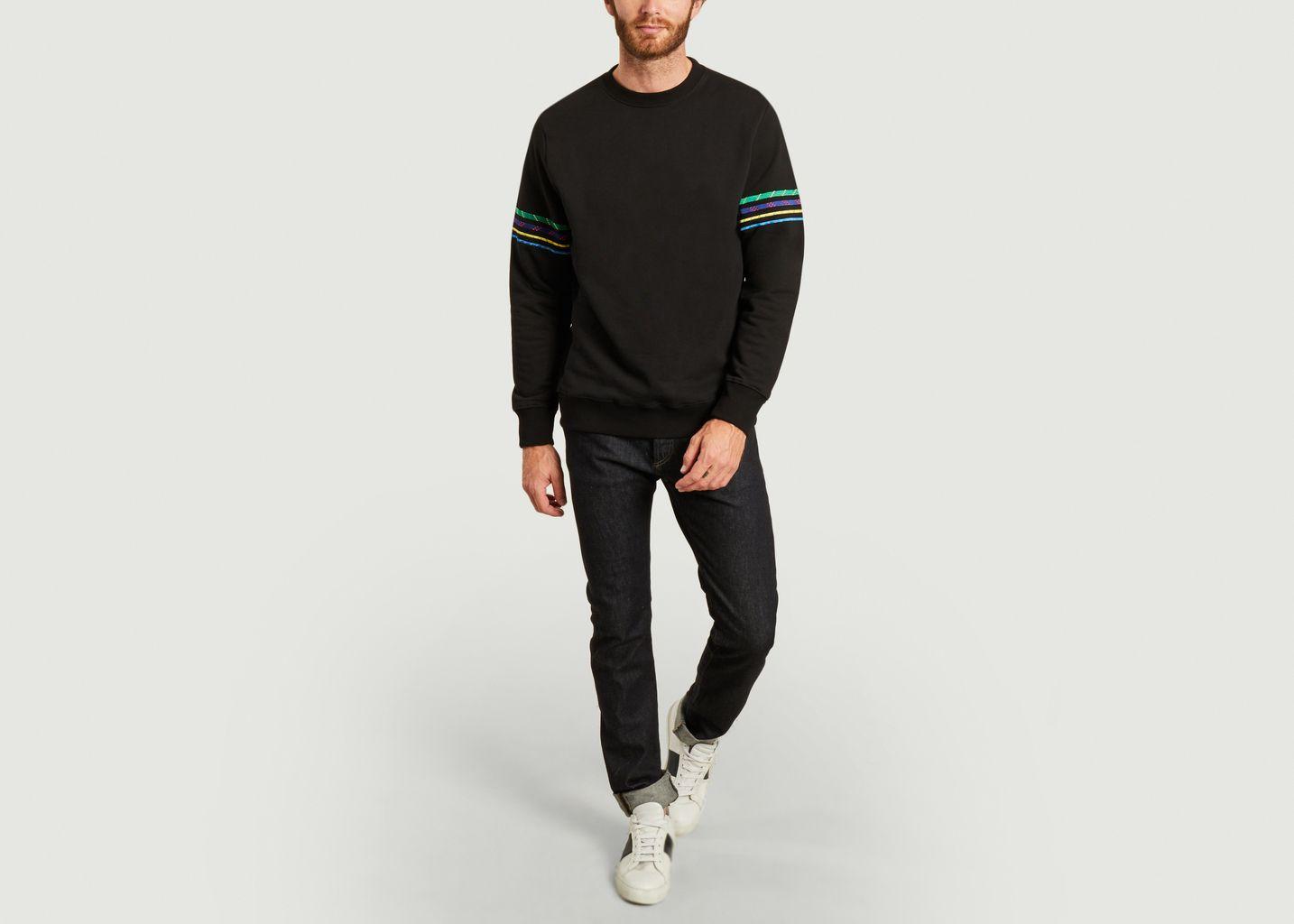 Sweatshirt en coton bio avec broderies - PS by PAUL SMITH