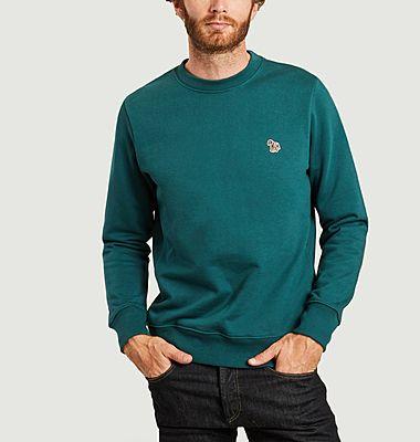 Sweatshirt en coton bio brodé zèbre